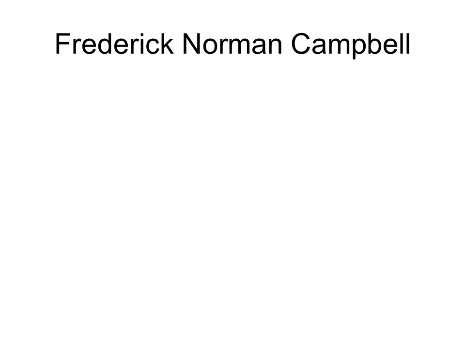 Frederick Norman Campbell