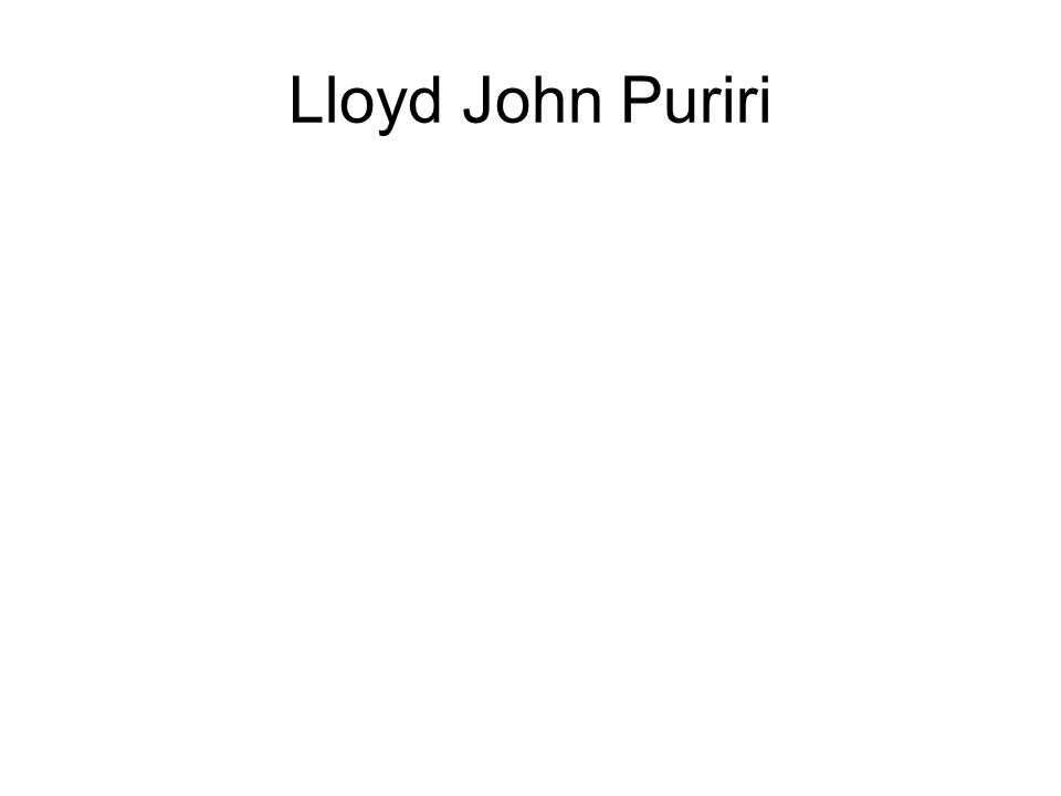 Lloyd John Puriri