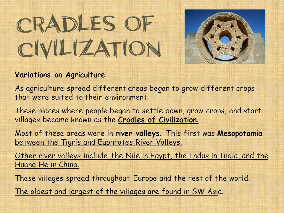 Variations on Agriculture