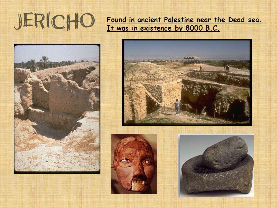 Found in ancient Palestine near the Dead sea
