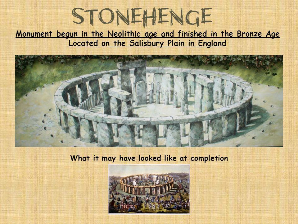 Monument begun in the Neolithic age and finished in the Bronze Age