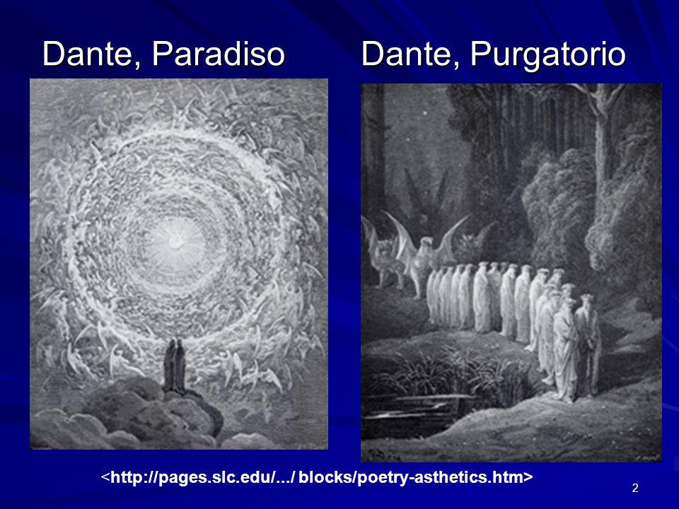 Dante, Paradiso Dante, Purgatorio