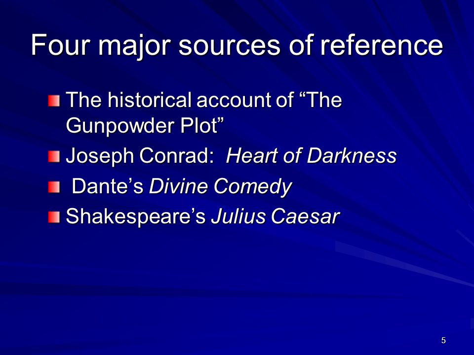 Four major sources of reference