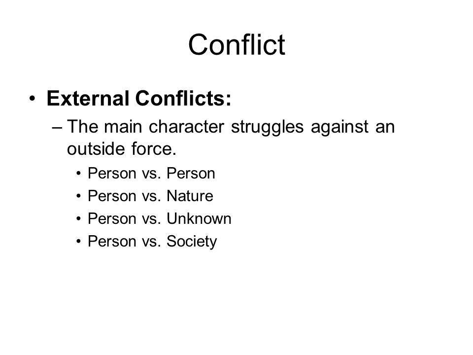 Conflict External Conflicts: