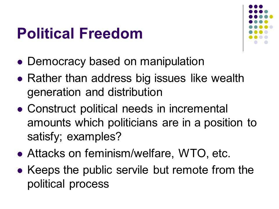 Political Freedom Democracy based on manipulation