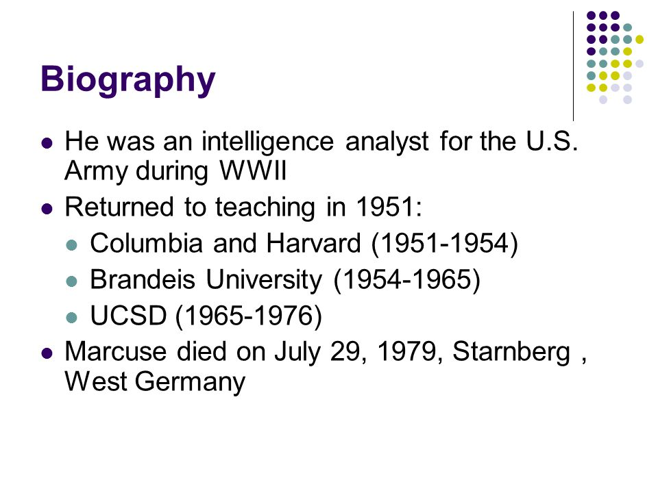 Biography He was an intelligence analyst for the U.S. Army during WWII