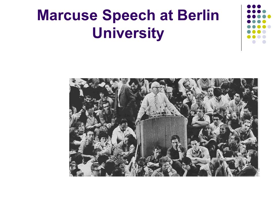 Marcuse Speech at Berlin University