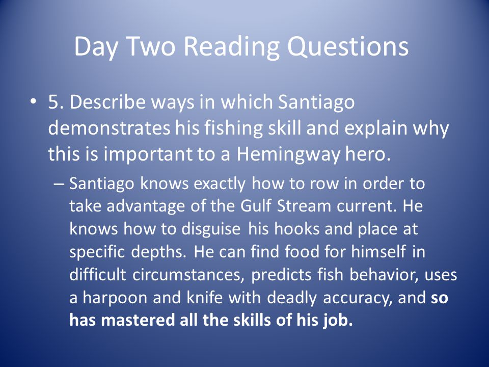 Day Two Reading Questions