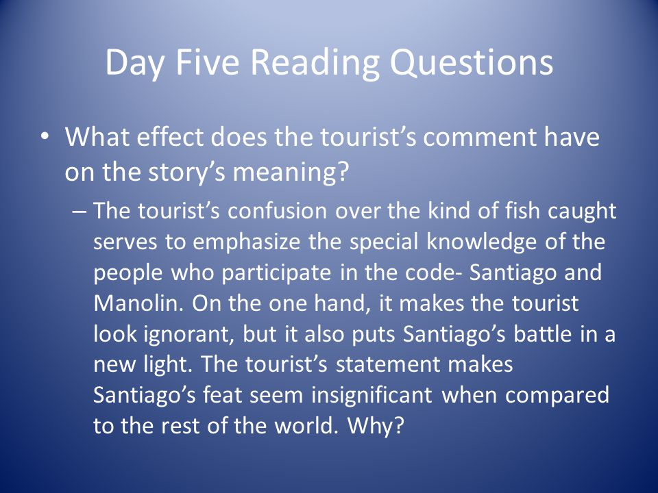 Day Five Reading Questions