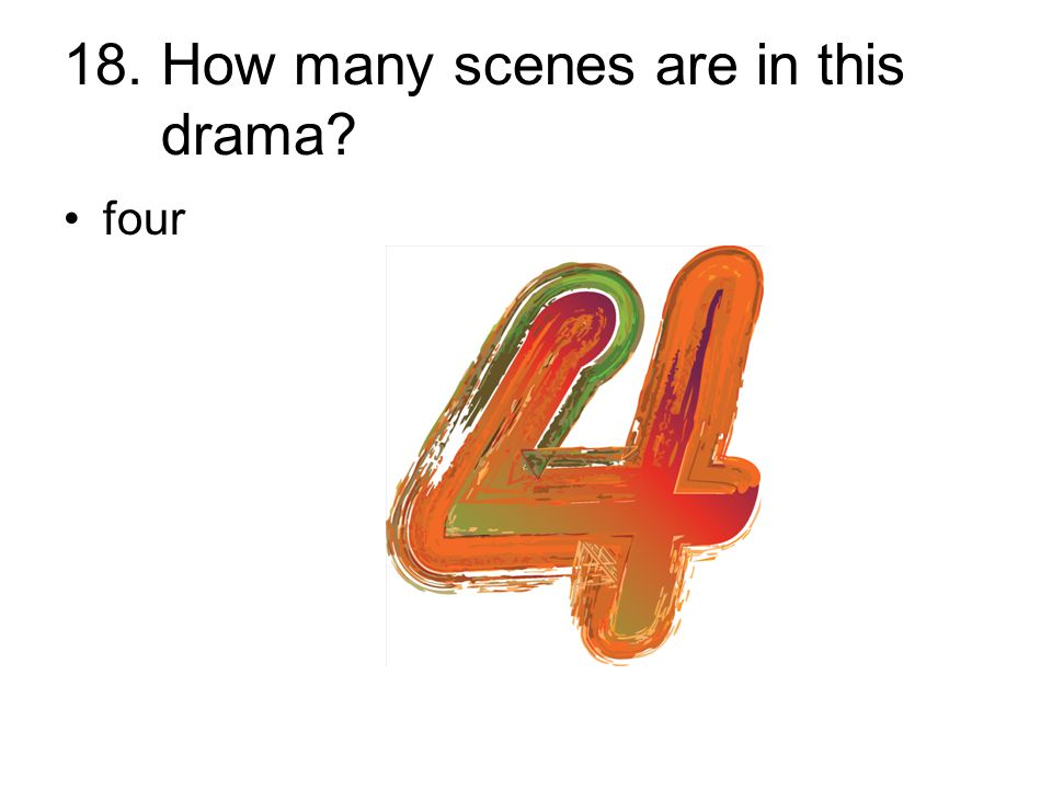 18. How many scenes are in this drama