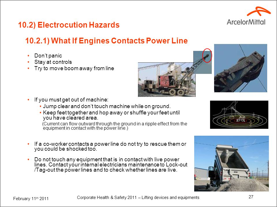 11) Main causes of accidents (Scissor lift)