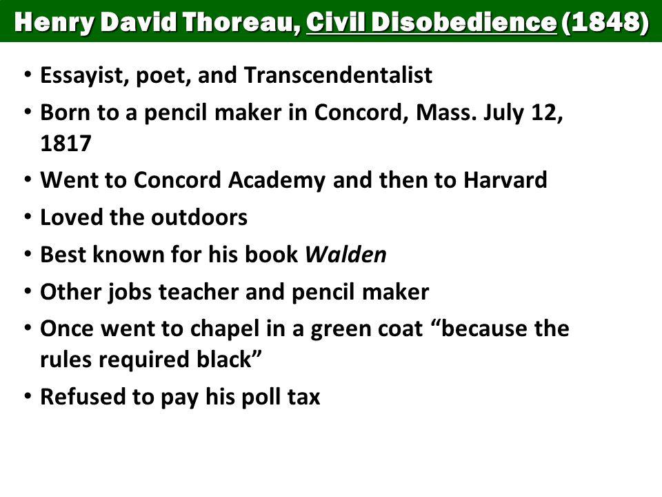 the essay civil disobedience