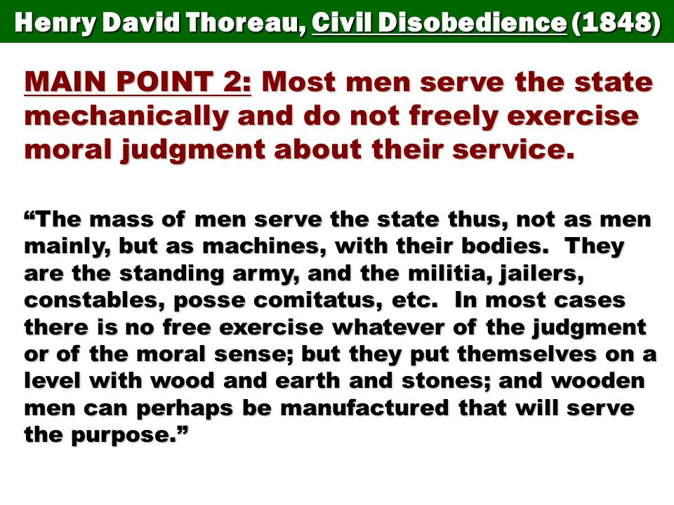 a discussion on civil disobedience Question civil disobedience these discussion boards have been designed to explore controversial topics often these debates have the potential to become heated in the act of creating ideas, heat can be a good thing, but.