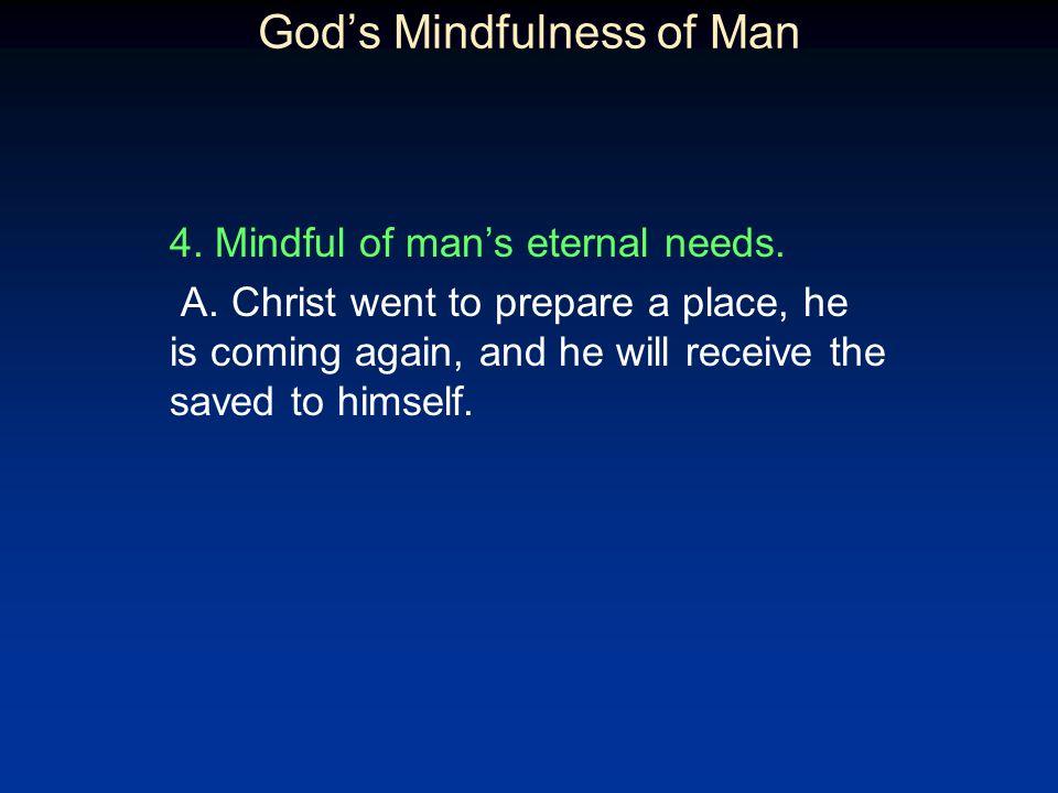 God's Mindfulness of Man