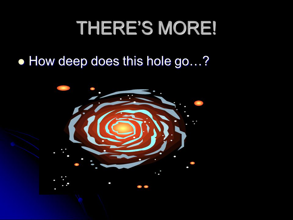 THERE'S MORE! How deep does this hole go…