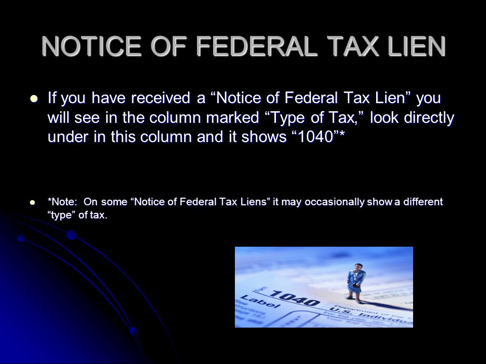 NOTICE OF FEDERAL TAX LIEN