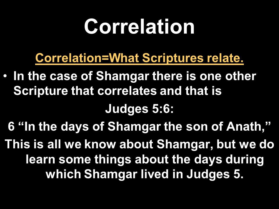 Correlation Correlation=What Scriptures relate.