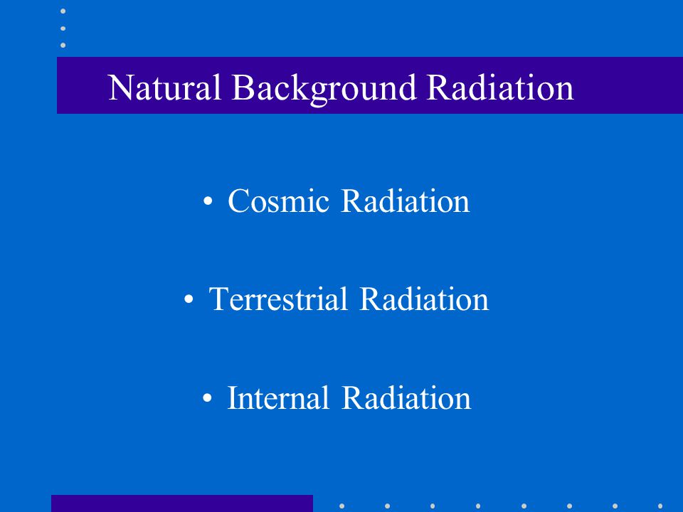 Natural Background Radiation