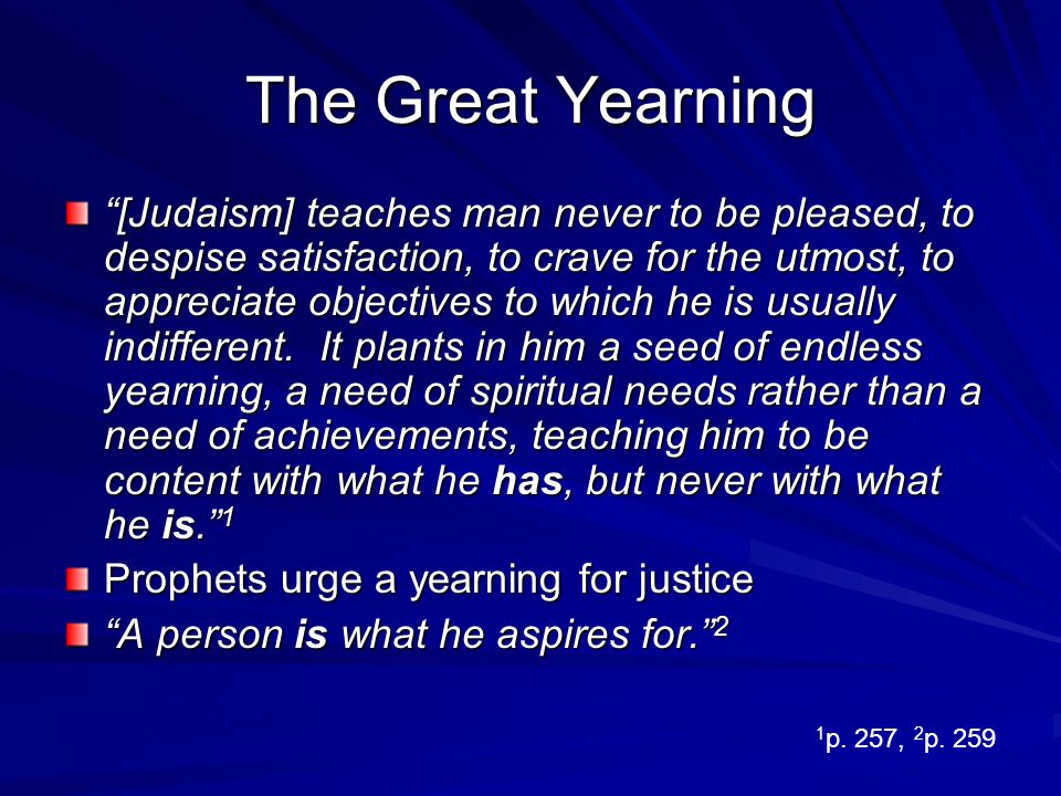 The Great Yearning