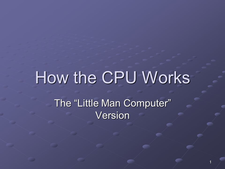 The Little Man Computer Version