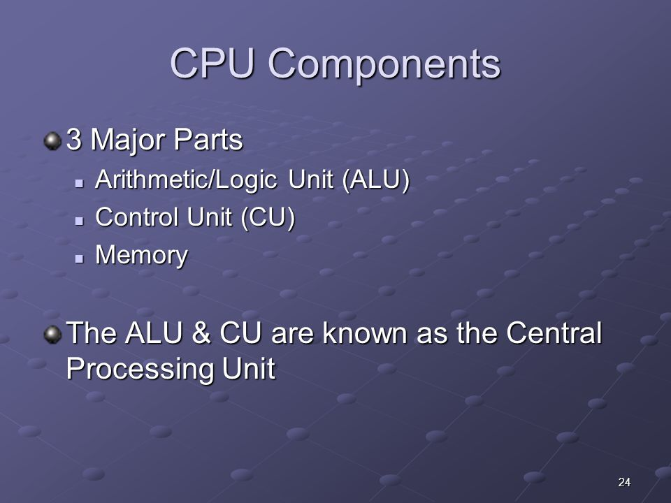 CPU Components 3 Major Parts