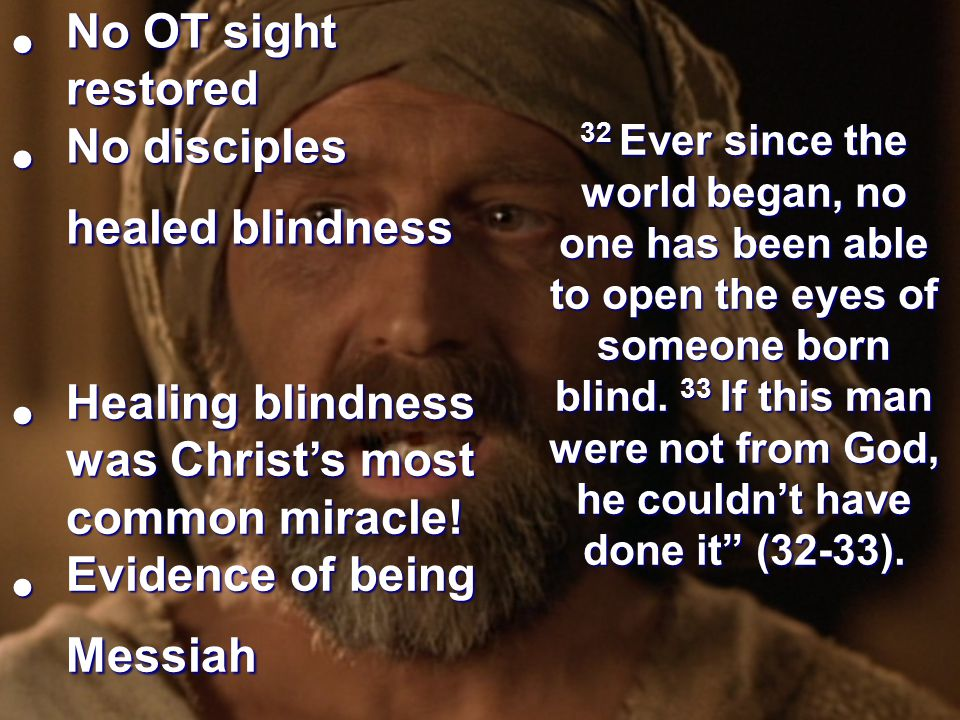 No disciples healed blindness