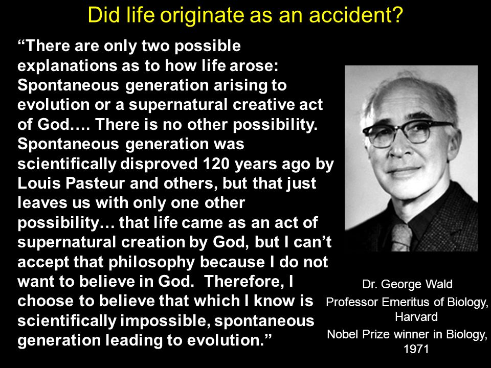 Did life originate as an accident