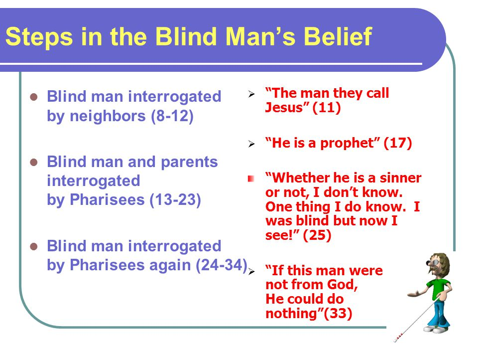 Steps in the Blind Man's Belief