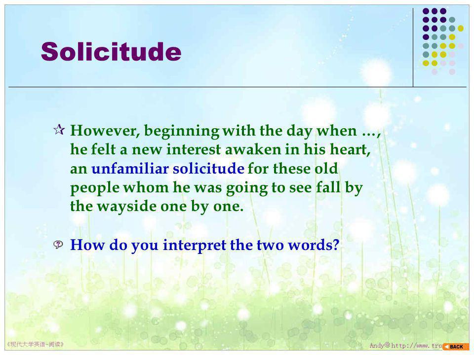 Solicitude