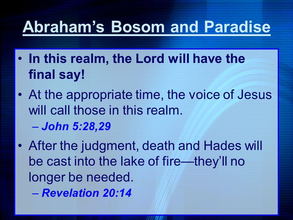 Abraham's Bosom and Paradise