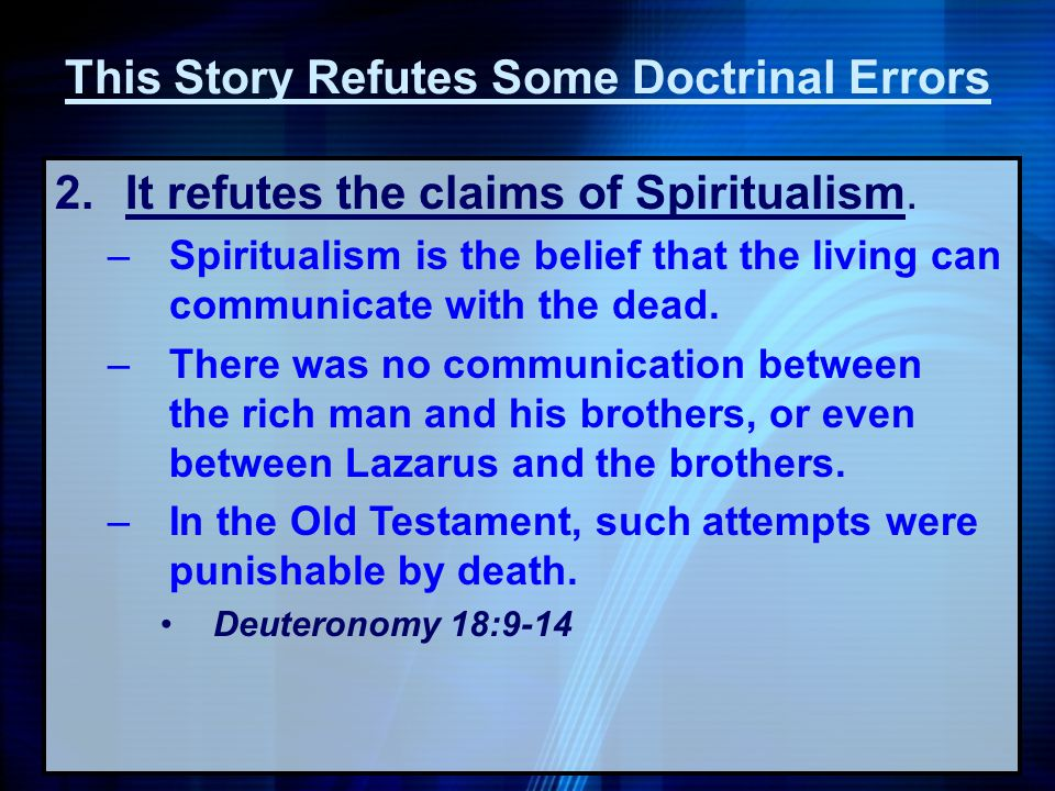 This Story Refutes Some Doctrinal Errors