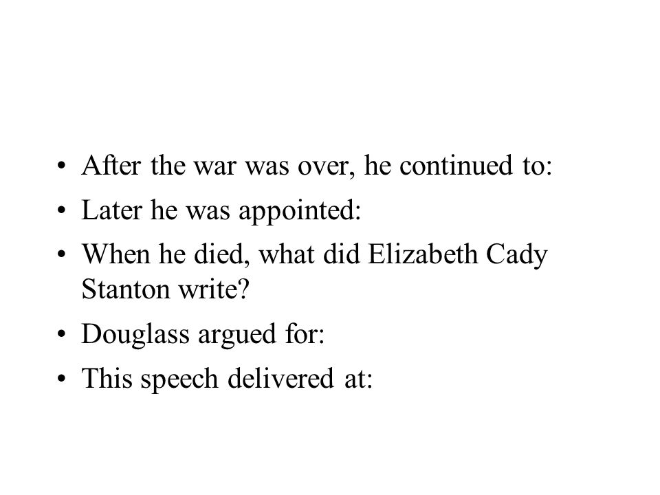 After the war was over, he continued to: