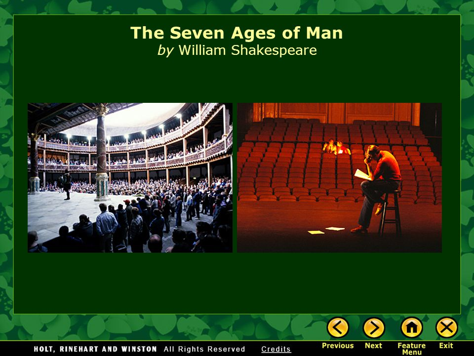 The Seven Ages of Man by William Shakespeare