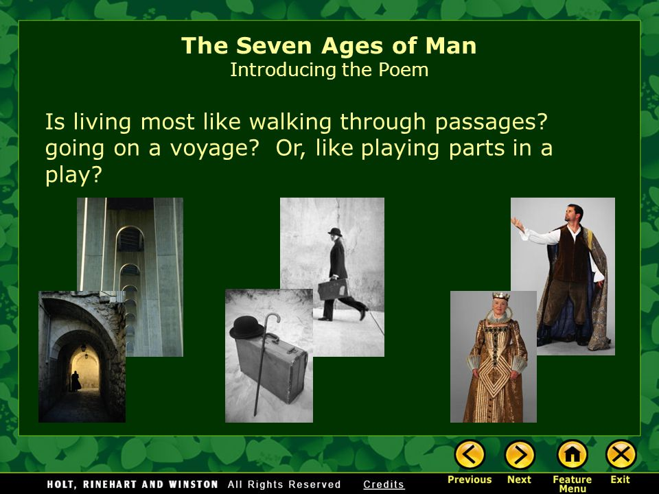 The Seven Ages of Man Introducing the Poem
