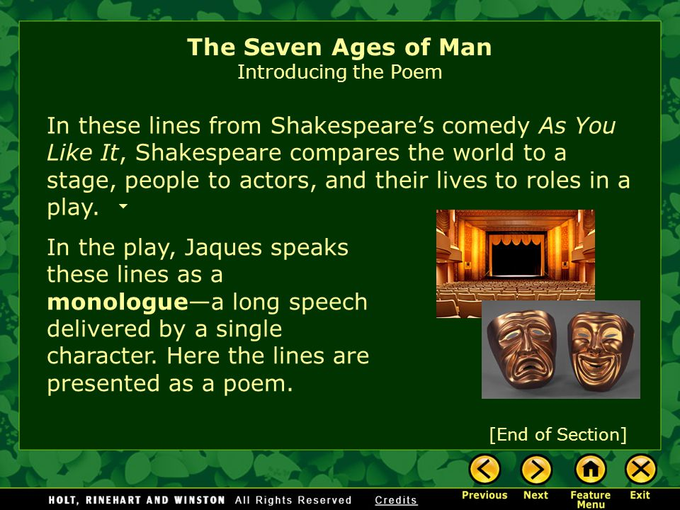 seven ages of a leader Stages of life folktales of aarne-thompson-uther type 173 plus a talmudic treatise, a shakespeare monologue the seven ages of man william shakespeare.