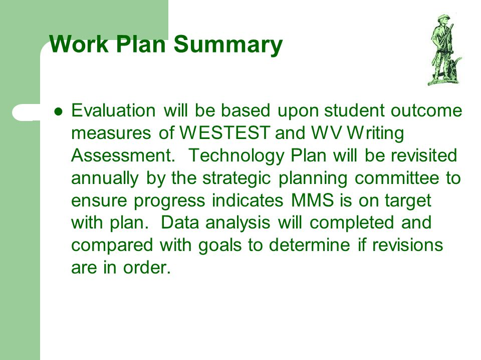 Work Plan Summary