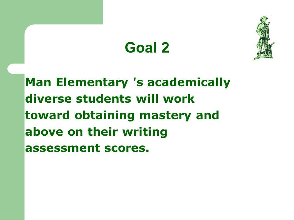 Goal 2 Man Elementary s academically diverse students will work