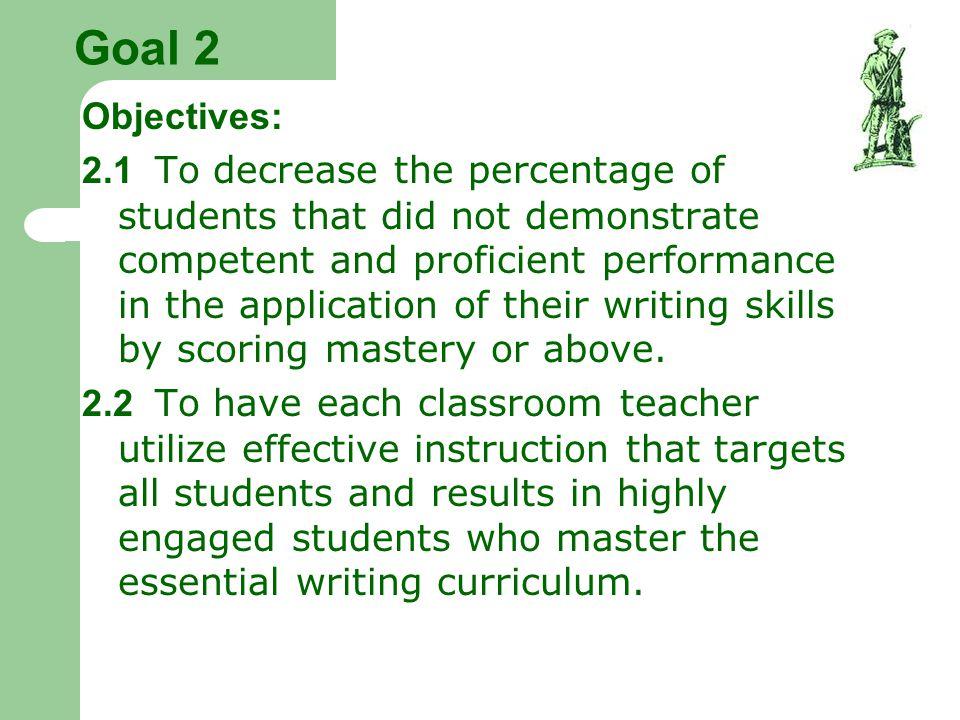 Goal 2 Objectives: