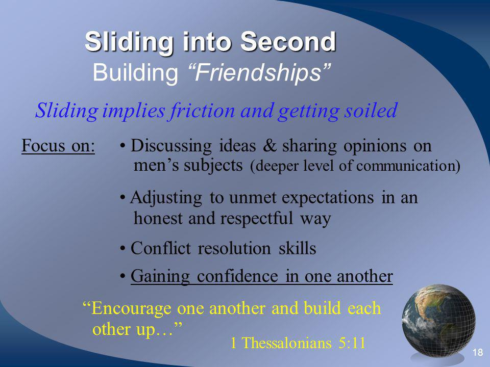 Sliding into Second Building Friendships