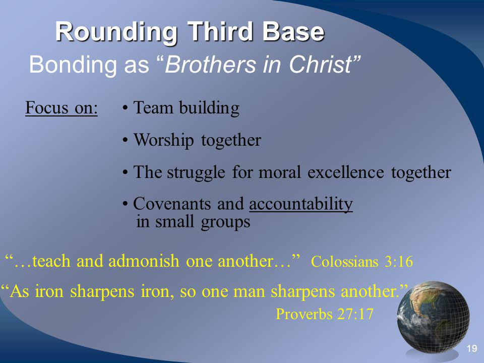 Rounding Third Base Bonding as Brothers in Christ