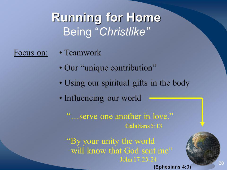 Running for Home Being Christlike