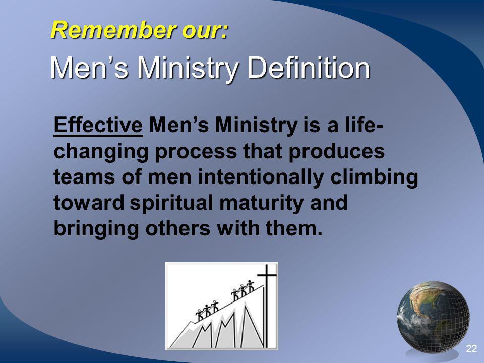 Men's Ministry Definition