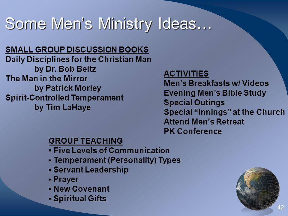 Some Men's Ministry Ideas…