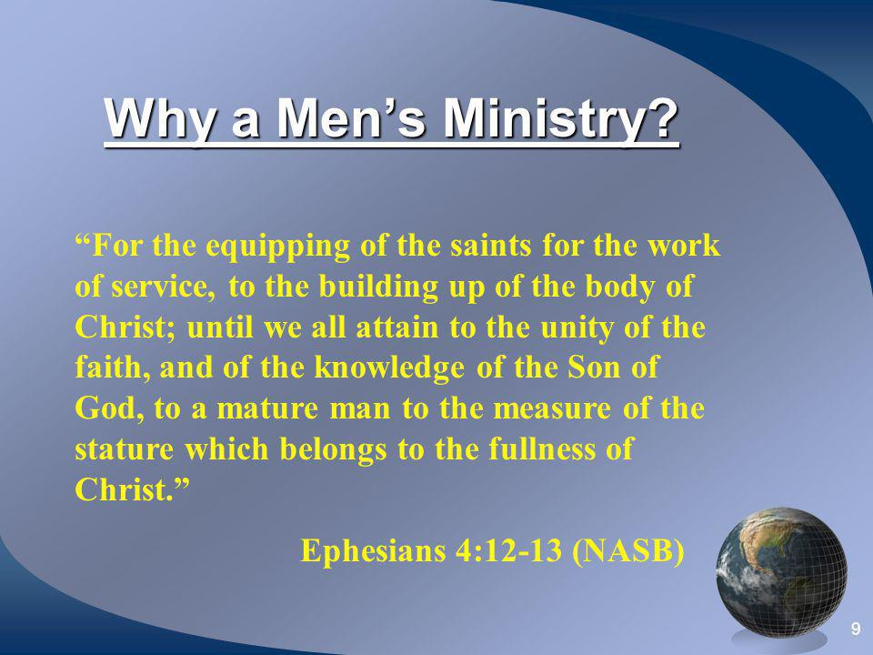 Why a Men's Ministry