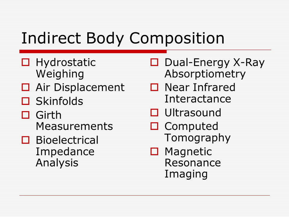 Indirect Body Composition