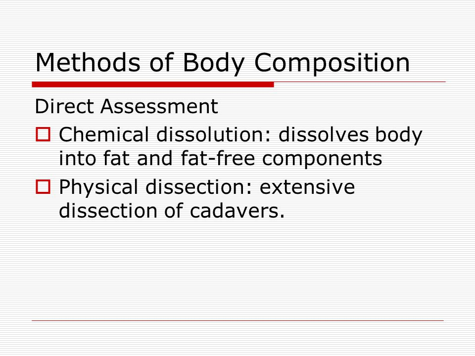 Methods of Body Composition