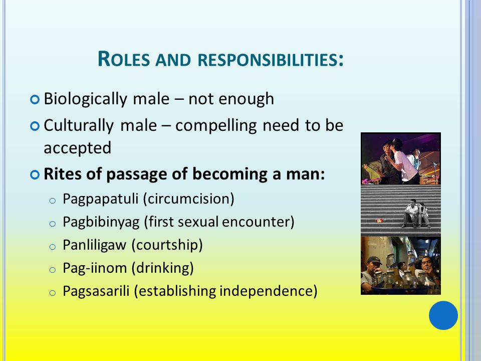 Roles and responsibilities: