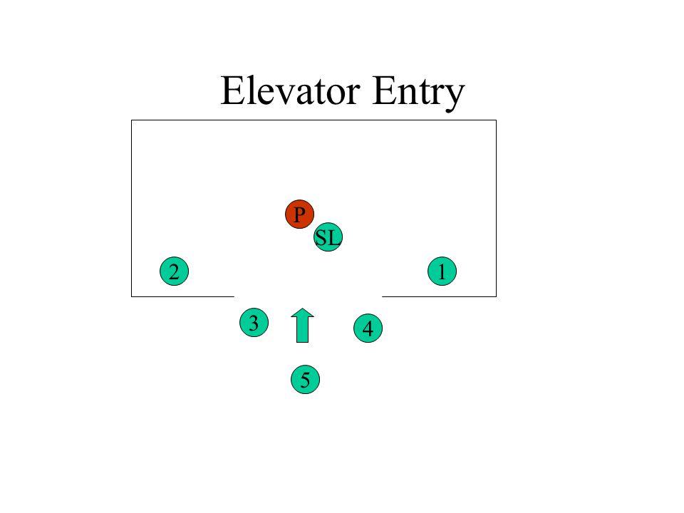 Elevator Entry P SL 2 1 3 4 5