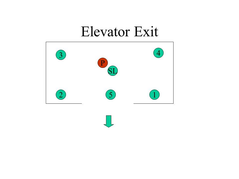 Elevator Exit 4 3 P SL 2 5 1
