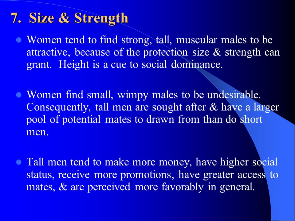 7. Size & Strength